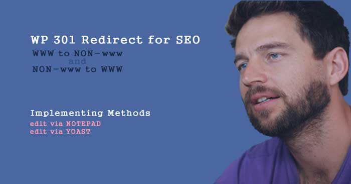 wordpress 301redirect www to NON-www and vice versa